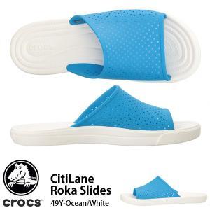 シャワーサンダル クロックス crocs メンズ シティレーン ロカ スライド スポサン ビーチサンダル 204222 日本正規品|elephant