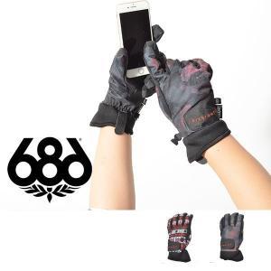 手袋 686 SIX EIGHT SIX シックスエイトシックス CRUSH GLOVE レディース グローブ スノボ スノーボード L7WGLV15 得割30|elephant