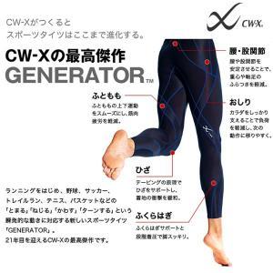 CW-X ジェネレーター スポーツタイツ メンズ コンプレッションインナー 着圧 ロングタイツ ウェア HZO639 Wacoal ワコール 得割10|elephant|02
