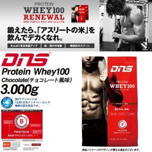 DNS たんぱく質を効率よく摂取し身体をつくる プロテイン ホエイ100 Protein Whey100 3000g 3kg チョコレート風味 3000グラム 送料無料【返品不可商品】|elephant