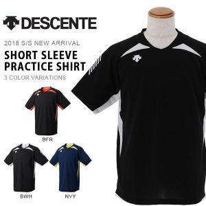 半袖 Tシャツ デサント DESCENTE 半袖プラクティスシャツ メンズ レディース プラシャツ バレーボール 2018春夏新作 得割20|elephant
