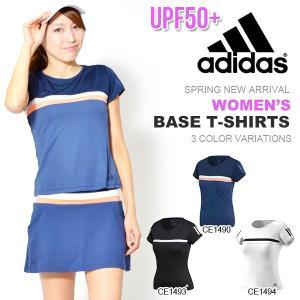 半袖 Tシャツ アディダス adidas WOMEN BASE T-SHIRTS レディース スポーツウェア テニス ウェア 2018春新作 10%OFF|elephant
