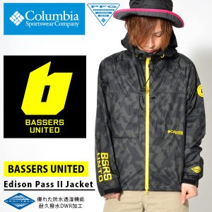 BASSERS UNITED コラボ ナイロンジャケット コロンビア Columbia メンズ Edison Pass II Jacket フィッシング 釣り アウトドア PM5555 2018春夏新作|elephant