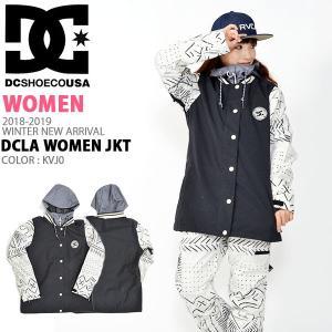 スノーボード ジャケット DC Shoes ディーシー シューズ レディース DCLA WOMEN JKT ロゴ スタジャン スノボ 25%off|elephant