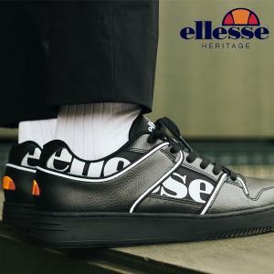 スニーカー ellesse エレッセ メンズ レディース ヘリテージ アシスト ロウ Heritage Assist Low シューズ 靴 ローカット ブラック EFH9321 2019秋新作 送料無料|elephant