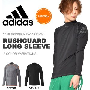 アディダス adidas MENS ラッシュガードロングスリーブ メンズ 長袖 紫外線対策 UPF50+ 水着 ビーチ プール 日焼け対策 2018春新作 10%OFF 送料無料|elephant