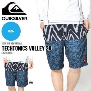 サーフパンツ QUIKSILVER クイックシルバー メンズ TECHTONICS VOLLEY 20 ボードショーツ 海水パンツ 海パン 2018春夏新作 20%off|elephant