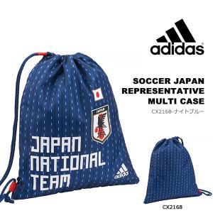 アディダス adidas サッカー 日本代表 マルチケース 38x45cm 巾着 ワンショルダー ナップサック ナップザック バッグ 鞄 カバン サポーター グッズ ETW92 得割20|elephant