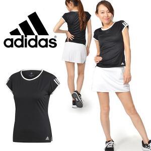 半袖 Tシャツ adidas レディース TENNIS CLUB 3ST TEE 吸汗速乾 テニスウェア 3本ライン 2019夏新作 25%OFF FRO19|elephant
