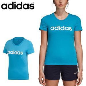 得割30 半袖 Tシャツ アディダス adidas レディース W 半袖 リニア コットン Tシャツ ランニング トレーニング ウェア ジム ヨガ フィットネス 2019夏新作 FRU56|elephant