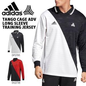 得割30 長袖 Tシャツ アディダス adidas メンズ TANGO CAGE ADV ロングスリーブ トレーニング ジャージー ロンT サッカー トレーニング ウェア 2019春新作 FRW00|elephant
