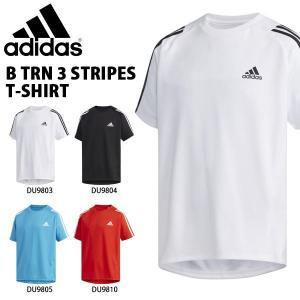 キッズ 半袖 Tシャツ アディダス adidas B TRN スリーストライプス Tシャツ ジュニア 子供 男の子 スポーツウェア 3本ライン 2019夏新作 得割23 FTJ80|elephant