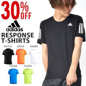 30%OFF ランニング 半袖 Tシャツ アディダス adidas メンズ RESPONSE T シャツ ランニングシャツ ジョギング マラソン ウェア 3本ライン 2019春新作 FWB26