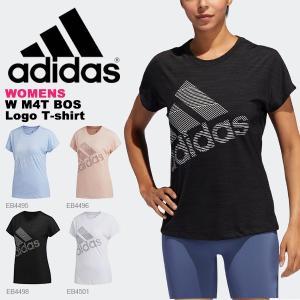 半袖 Tシャツ アディダス adidas レディース W M4T BOS ロゴ Tシャツ ビッグロゴ 吸汗速乾 ランニング トレーニング ウェア 2019秋新作 得割20 FWQ24|elephant
