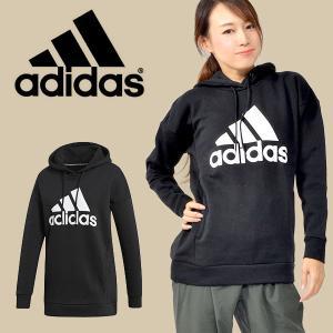 アディダス adidas レディース W MH ビッグロゴ スウェットプルオーバー ロング丈 パーカ...