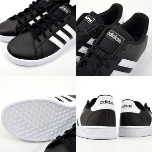 スニーカー アディダス adidas GRANDCOURT K レディース グランドコート 学校 通学 シューズ 靴 3本ライン 2019秋新作 21%OFF ホワイト ブラック 白 黒|elephant|08