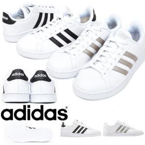 レザー スニーカー アディダス adidas GRANDCOURT LEA W レディース カジュアル シューズ 靴 2019春新作 得割20 送料無料 F36483 F36485 elephant