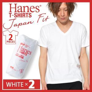 Begin掲載 2枚組 半袖 Tシャツ ヘインズ Hanes メンズ 2P Japan Fit Vネ...