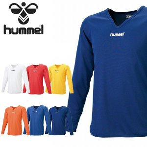 ヒュンメル hummel L/Sインナーシャツ メンズ 長袖 Vネック ルーズフィット インナー サッカー フットボール トレーニング ウェア 得割20 HAP5140|elephant