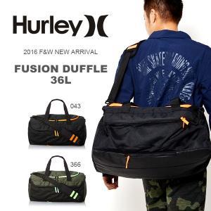 ダッフルバッグ HURLEY ハーレー FUSION DUFFLE メンズ サーフ ボストン スポーツバッグ 遠征 合宿 部活 ジム 旅行 BAG 約36L 30%off|elephant