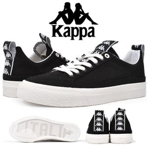 スニーカー Kappa 222 BANDA カッパ レディース バルカナイズドスニーカー ローカット カジュアルシューズ ロゴ 靴 BK ブラック K09W5CC45 得割30 送料無料|elephant