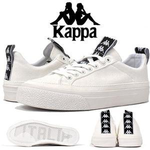 スニーカー Kappa 222 BANDA カッパ レディース バルカナイズドスニーカー ローカット カジュアルシューズ ロゴ 靴 WT ホワイト K09W5CC45 得割30 送料無料|elephant