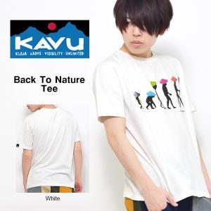 ゆうパケット対応可能!半袖 Tシャツ カブー KAVU メンズ バックトゥザネイチャーTEE プリント イラスト コットン  アウトドア  Back To Nature|elephant