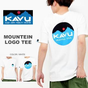 ゆうパケット対応!半袖 ポケット Tシャツ カブー KAVU メンズ マウンテン ロゴ バックプリント プリント コットン アウトドア ポケT Mountein Logo|elephant