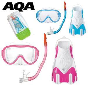 アクア(AQA)  AQA スノーケリング 3点セット ライトMになります。  女性や細顔の男性向け...