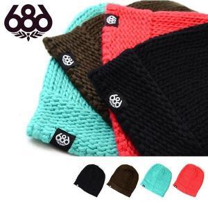 ニット帽 ビーニー 686 SIX EIGHT SIX シックスエイトシックス VARIETY BEANIE 折り返し スノボ スノーボード 帽子 得割30|elephant