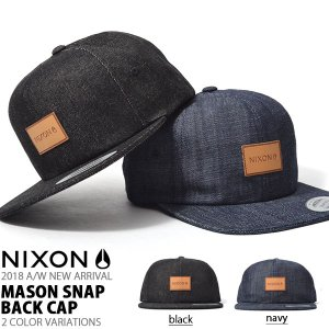 キャップ NIXON ニクソン 帽子 MASON SNAP BACK CAP スケート ぼうし スナップバック 2018秋冬新作|elephant