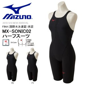 FINA承認 競泳水着 ミズノ MIZUNO MX-SONIC02 ハーフスーツ レディース スイムウェア 水泳 プール スイミング 競泳 2018春夏新作 得割20 送料無料 N2MG8211|elephant