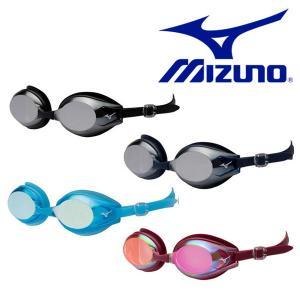 スイミングゴーグル MIZUNO ミズノ メンズ レディース フィットネス用 クッションタイプ ミラーレンズ 水泳 競泳  得割20|elephant