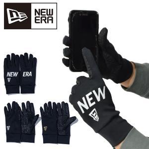 手袋 NEW ERA ニューエラ メンズ Windproof Stretch Fleece E Touch Glove スマートフォン対応 グローブ 防寒 スマホ対応 2018冬新作 20%off|elephant
