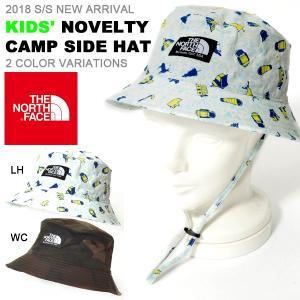 子供 ハット THE NORTH FACE ザ・ノースフェイス ノベルティキャンプサイドハット キッズ 2018春夏新作 紫外線防止 帽子 アウトドア|elephant