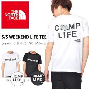 追加企画 バックプリント 半袖Tシャツ THE NORTH FACE ザ・ノースフェイス メンズ S/S Weekend Life Tee ウィークエンド ライフ Tシャツ 2018夏新作 nt31807|elephant