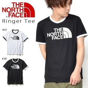 UVケア 半袖Tシャツ THE NORTH FACE ザ・ノースフェイス メンズ Ringer Tee リンガーティー ビッグロゴ 半T 2019春夏新色 ストレッチ 紫外線防止|elephant