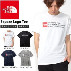 スクエア ロゴ UV 半袖Tシャツ THE NORTH FACE ザ・ノースフェイス Square Logo Tee スクエア ロゴティー メンズ 2019春夏新作 紫外線防止 nt31975|elephant