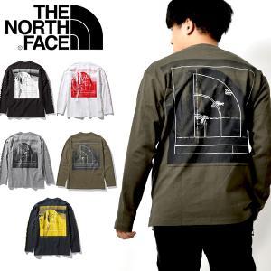 2020春夏新作 生地厚 スクエアロゴ 長袖Tシャツ THE NORTH FACE ザ・ノースフェイ...
