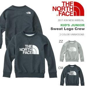送料無料 キッズ スウェット トレーナー THE NORTH FACE ザ・ノースフェイス Sweat Logo Crew スウェットロゴクルー 子供 2017秋冬新作 ntj11721|elephant