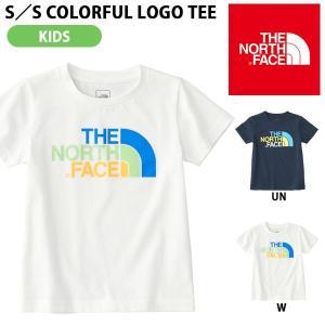 子供 半袖Tシャツ THE NORTH FACE ザ・ノースフェイス キッズ ベビー S/S Colorful Logo Tee ショートスリーブカラフルロゴティー 2018春夏新作 吸汗速乾|elephant
