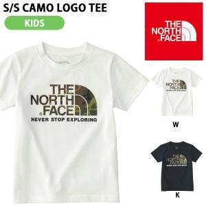 子供 UV 半袖Tシャツ THE NORTH FACE ザ・ノースフェイス キッズ ベビー ショートスリーブカモロゴティー 2018春夏新作 吸汗速乾 カモ 迷彩ロゴ 紫外線防止|elephant