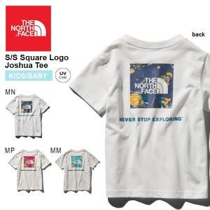 子供 UV 半袖Tシャツ THE NORTH FACE ザ・ノースフェイス キッズ ベビー Square Logo Joshua スクエアロゴ ティー 2019春夏新作 バックプリント ntj31928|elephant