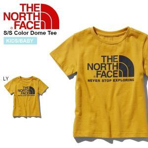 子供 オーガニックコットン 半袖Tシャツ THE NORTH FACE ザ・ノースフェイス キッズ ベビー カラー ドーム ティー 2019春夏新作 ntj31938 イエロー 黄色|elephant