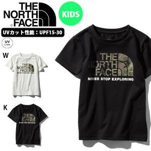 子供 UV 半袖Tシャツ THE NORTH FACE ザ・ノースフェイス キッズ ベビー S/S Camo Logo Tee カモロゴ 2019春夏新作 吸汗速乾 迷彩 ロゴ ntj31992|elephant