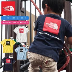 子供 UV 半袖Tシャツ THE NORTH FACE ザ・ノースフェイス キッズ ベビー S/S Square Logo Tee スクエアロゴ ティー 2019春夏新作 バックプリント ntj81827|elephant