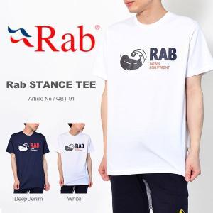 ゆうパケット対応可能! 半袖 Tシャツ Rab ラブ メンズ Stance Tee スタンス Tee QBT-91 ロゴT アウトドア トレッキング キャンプ 登山  得割40|elephant
