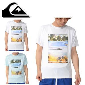 QUIKSILVER(クイックシルバー) 紳士・男性用  フォトグラフィックなラッシュガードです。 ...