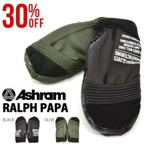 スノーボード グローブ Ashram アシュラム 手袋 レザーミトン スノボ RALPH PAPA ラルフ パパ メンズ レディース 30%off|elephant