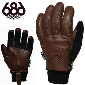 手袋 686 SIX EIGHT SIX シックスエイトシックス RAW LEATHER GLOVE メンズ レザー グローブ スノボ スノーボード L6WGLV07 得割35|elephant